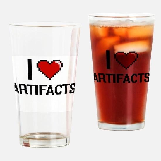 I Love Artifacts Digitial Design Drinking Glass