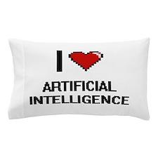 I Love Artificial Intelligence Digitia Pillow Case