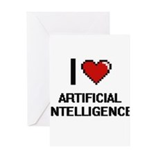 I Love Artificial Intelligence Digi Greeting Cards