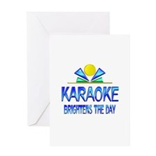 Karaoke Brightens the Day Greeting Card