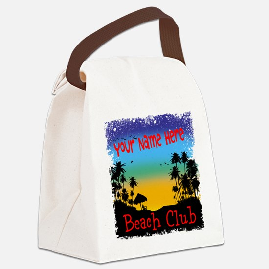 Morning Beach Club Canvas Lunch Bag