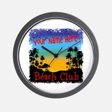 Morning Beach Club Wall Clock