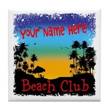 Morning Beach Club Tile Coaster