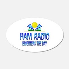 Ham Radio Brightens the Day Wall Decal