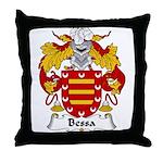 Bessa Family Crest Throw Pillow