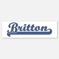 Britton (sport-blue) Bumper Bumper Bumper Sticker