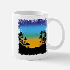Tropical beach sunrise Mugs