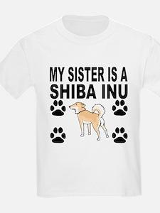 My Sister Is A Shiba Inu T-Shirt