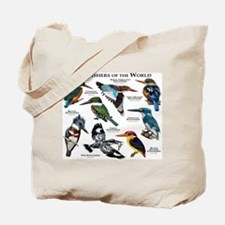 Kingfishers of the World Tote Bag