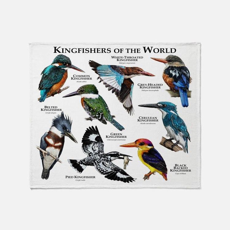 Kingfishers of the World Throw Blanket