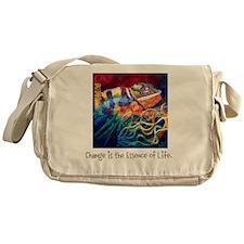 Change is the Essence of Life. Messenger Bag