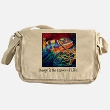 Change is the Essence of Life. Messenger Bag