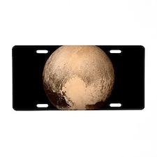 Pluto Aluminum License Plate