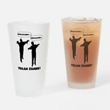 Vegan Zombies Drinking Glass