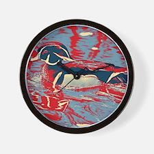 Unique Wood duck Wall Clock