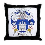 Bendris Family Crest  Throw Pillow