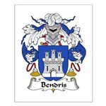Bendris Family Crest  Small Poster