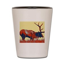 vintage western country elk Shot Glass