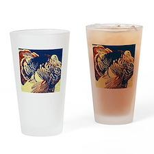 vintage american wild turkey Drinking Glass
