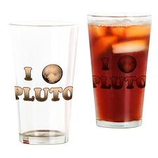 I Love Pluto Drinking Glass