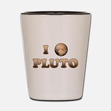 I Love Pluto Shot Glass