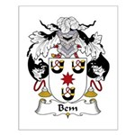 Bem Family Crest Small Poster