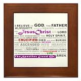 Apostles creed Framed Tiles