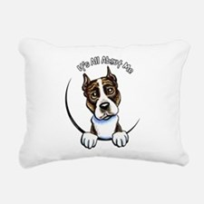 AMSTAFF Brindle IAAM Rectangular Canvas Pillow