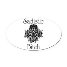 Cute Submission Oval Car Magnet