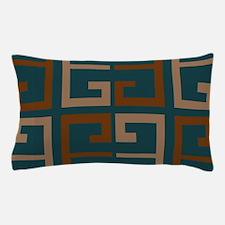 Earthy Blue Aztec Tile Pillow Case