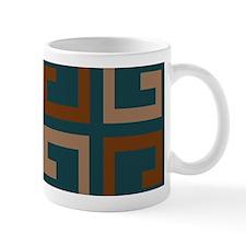 Earthy Blue Aztec Tile Mugs