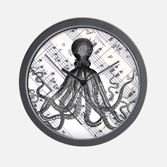 vintage nautical steampunk octopus Wall Clock