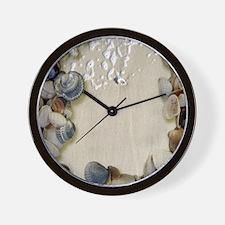 summer ocean beach seashells Wall Clock