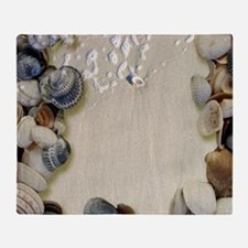 summer ocean beach seashells Throw Blanket