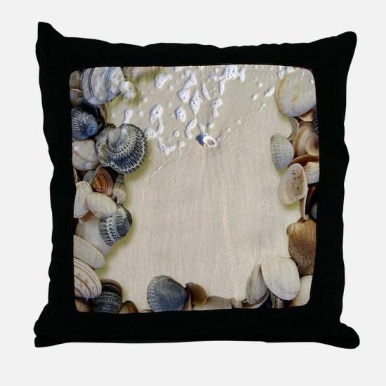 summer ocean beach seashells Throw Pillow