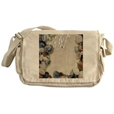 summer ocean beach seashells Messenger Bag