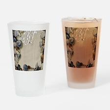 summer ocean beach seashells Drinking Glass