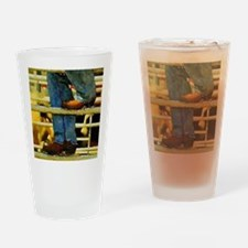 western country rodeo cowboy Drinking Glass