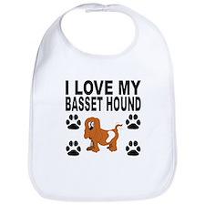 I Love My Basset Hound Bib