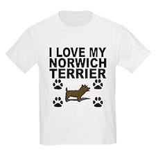 I Love My Norwich Terrier T-Shirt