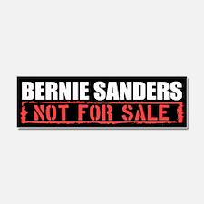 Bernie Sanders Not For Sale Car Magnet 10 x 3
