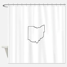 Ohio Outline Shower Curtain