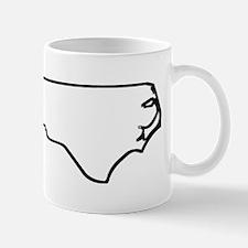 North Carolina Outline Mugs
