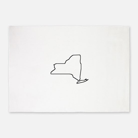 New York Outline 5'x7'Area Rug