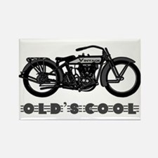 Vintage Motorcycle-Old's Cool! Magnets