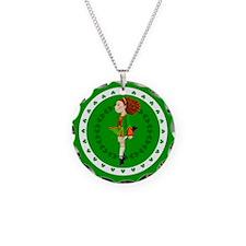 Irish Dancing Necklace Circle Charm