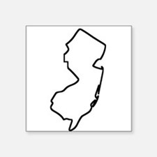 New Jersey Outline Sticker
