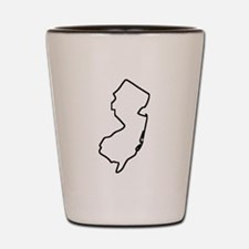 New Jersey Outline Shot Glass