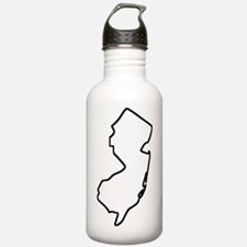 New Jersey Outline Water Bottle