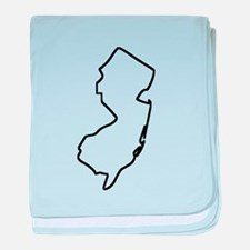 New Jersey Outline baby blanket